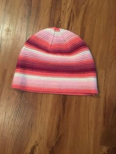 2f403bc939b Joe Boxer Woman s pink striped knit winter hat  fashion  clothing  shoes   accessories  womensaccessories  hats (ebay link)