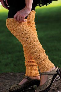 Leg Warmers are great on cold winter days. Peggy Sue's Leg Warmers - Crochet Me