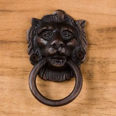 Lion Head Solid Brass Drawer Pull