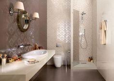 Fliesen-Kollektionen von Ceramiche Supergres-Mosaike für Duschkabine-floral