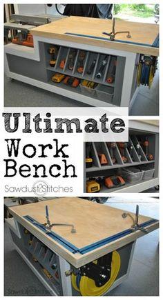 Workshop Assembly Table | Sawdust2stitches.com | Bloglovin'