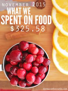 Food prices in central California and what a family of four spent on groceries for October 2015. Think you spend too much on groceries? These guys spend only $330 each month - and it's clean eating, real food. No junk allowed! :: DontWastetheCrumbs.com