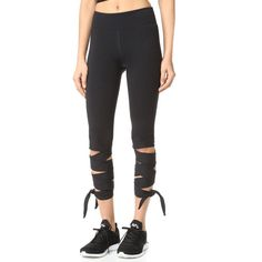 Free People Movement Motion Leggings (€80) ❤ liked on Polyvore featuring pants, leggings, black, jersey leggings, legging pants, tie pants, free people pants and tie-dye leggings