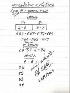 เลขตามอิทธิพลของวัน 1/10/62 #หวย #หวยเด็ด #หวยเด็ดงวดนี้ #เลขตามอิทธิพลของวัน Daily Lottery Numbers, Winning Lottery Numbers, Numerology Chart, Bullet Journal, Maids, Girls