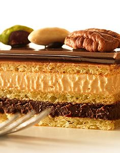Callebaut - Tarta ópera con nueces pecanas