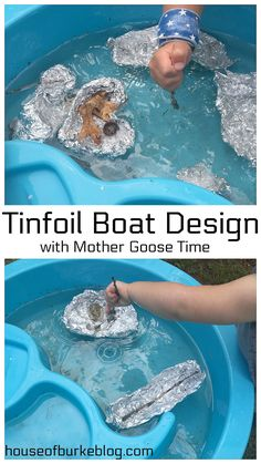 Tinfoil Boat Design (with Mother Goose Time! Sensory Activities, Activities For Kids, Crafts For Kids, Mother Goose Time, Boat Design, Business For Kids, Babysitting, Vehicle, Summer
