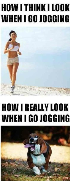 Jogging - How I think I look vs How I really look - http://www.jokideo.com/