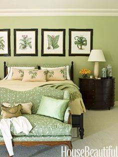 green bedroom design idea 22