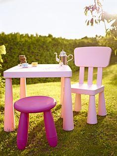 Küçük hanımların en renkli yaz partilerinde IKEA hep yanlarında! / Would you like to have a tea little princess? Loved the IKEA kids decorative pieces.
