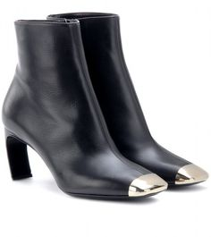 Nicholas Kirkwood Leather Ankle Boots in Blue (black made in italy)