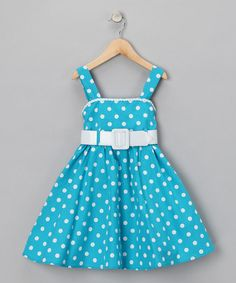 Take a look at this Turquoise Polka Dot Dress - Girls by Fashion Points: Tween Trends on #zulily #fall today!