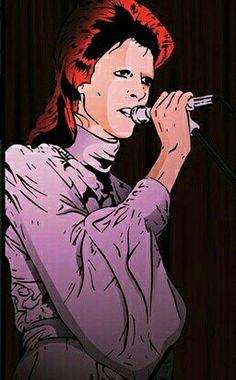 "David bowie "" Ziggy Stardust pop art "" ."