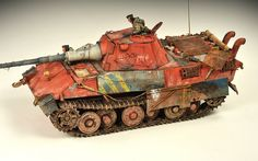 Entwicklungsserie E-50 Standardpanzer prototype tank -the example of master weathering by Adam Wilder