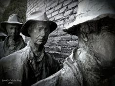 3 D sculpture from a famous photograph. Location: Grounds for Sculpture NJ