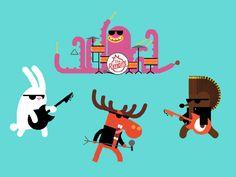 diseño de personajes, se puede hacer los tentaculos y las orejas con el puppet