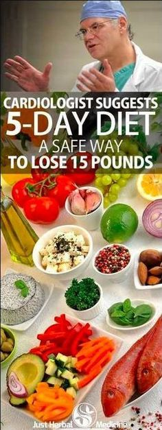 Cardiologist Suggests 5-Day Diet: A Safe Way To Lose 15 Pounds – L/H