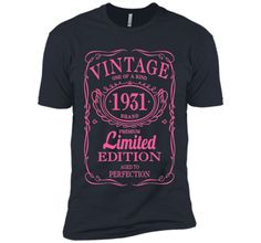 85th Birthday Gift Vintage 1931 Limited Edition T-Shirt Pink