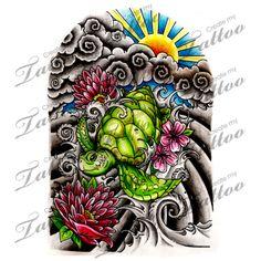 Marketplace Tattoo Japanese Half Sleeve #13948 | CreateMyTattoo.com