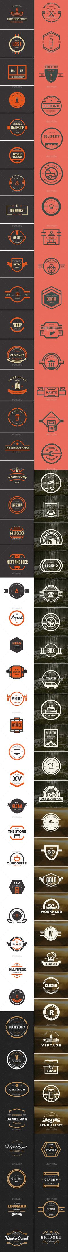 Buy 87 Vintage Labels & Badges Logos Bundle by designdistrictmx on GraphicRiver. 87 Retro Vintage Labels and Badges that you can use on Logos with emblem style, on beer labels, restaurants, coffee s. Badge Design, Tool Design, Emblem Logo, Vintage Type, Retro Vintage, Badges, Retro Design, Graphic Design, Coffee Logo