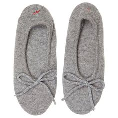 Banjo & Matilda Cashmere Slippers ($175) ❤ liked on Polyvore featuring shoes, slippers, flats and pajamas