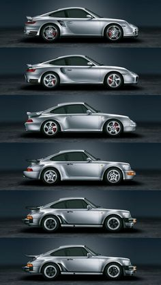 Not a huge fan of the Porsche 911 but you have to appreciate its evolution.