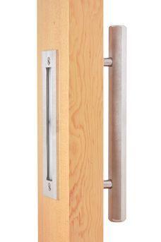 Hex Bar Pull 12 And Flush Pull 9 Combo Door Handle Modern Pull Modern Handle Contemporary Barn Door Handles Door Handles Modern Sliding Door Hardware