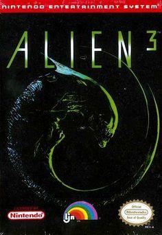 Alien3 - Label or Box Art #nintendo games #gamer #snes #original #classic #pin #synergeticideas #gameon #play #award