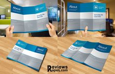 Eye-Catching Blank Tri Fold Paper Brochure Mockup FREE on Behance - Find more at designresources.