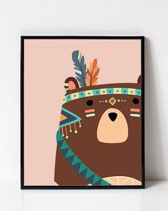Bear Nursery Art - Kids Printables from the Sour Cactus on Etsy