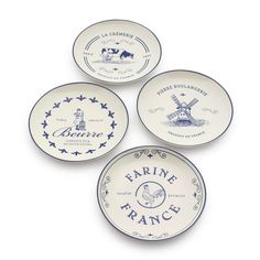 French Countryside Appetizer Plates, Set of 4 | Sur La Table