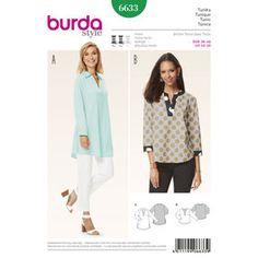 Burda Style Pattern 6633 Misses' Tunic