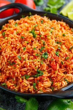 Mexican Rice Recipe : A quick and easy Mexican style red rice that is the perfect side! Rice Recipes For Dinner, Mexican Dinner Recipes, Mexican Cooking, Mexican Dishes, Easy Mexican Rice, Authentic Mexican Rice, Red Rice Recipe Mexican, Homemade Mexican Rice, Mexican Fried Rice