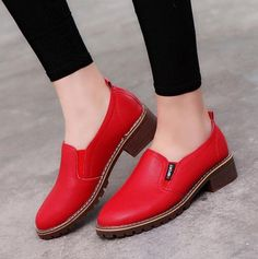 29c13aec8a 2017 Women Flat Shoes Round Toe Lace-Up Oxford Shoes Woman Genuine Leather  Brogue Women