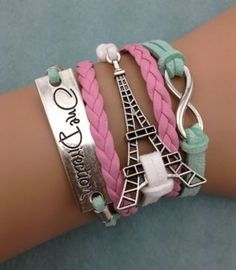 Friendship Bracelet One Direction Eiffel Tower by Chasingdreams97