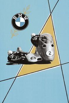 Motos Bmw, Bmw Scrambler, Motorcycle Posters, Cafe Racer Motorcycle, Motorcycle Art, Racing Bike, Bmw Vintage, Vintage Bikes, Vintage Racing