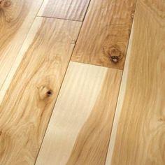 Hickory Natural: Amish Hand-Scraped-- #HomerWood Premium Hardwood Flooring