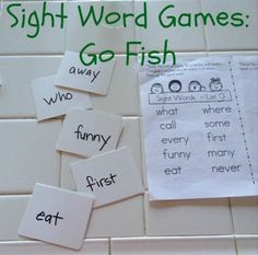 Sight word games, from @Natalie Hoage