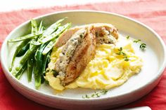 Baked chicken breasts are made exotic with the use of Persian feta stuffing.