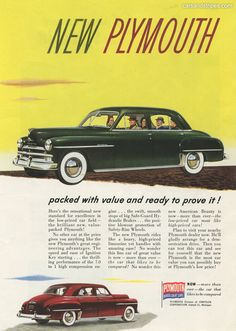 1950 Plymouth - packed with value - Original Ad