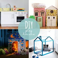 10 Amazing DIY Playhouses- I still have boxes from my move....maybe a sleepover idea! YES!!!