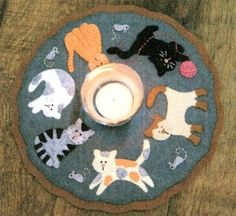 Cats Penny Rug