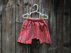 red striped guatemala shorts girls baggy shorts boys by VivaGuate