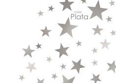 vinilo decorativo estrellas plateadas