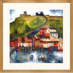 199 Steps Whitby by Kate Lycett is a popular choice with our customers. ltd edition giclee print by Kate Lycett at Heart Gallery Building Painting, Building Art, Karla Gerard, Naive Art, Artist Gallery, North Yorkshire, Artist Painting, Abstract Paintings, Oil Paintings