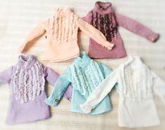 #jiajiadoll #blythe #momoko #jerryberry #yosd #msd #sd #handmade #dollclothes #dorandoran #pullip     Jiajia's new design of the layer shirts. Layered shirts have 5 colors. If you like Dan make as a dress.