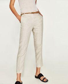94 mejores imágenes de Pantalones de lino  311f3b7929ed