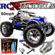 Rc car #monster #truck nitro petrol radio remote #control 1/10 4wd 4x4 fast 60mph,  View more on the LINK: http://www.zeppy.io/product/gb/2/271228884383/