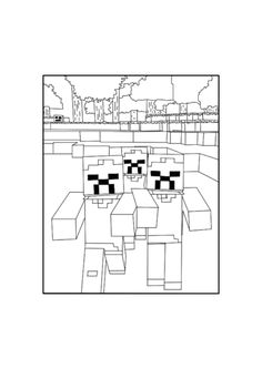 Best Minecraft Zombies Coloring Pages