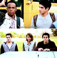 "#TeenWolf Season 5 Episode 3 ""Dreamcatchers"" Mason and Scott McCall, Liam Dunbar, Malia Tate (Hale), Stiles Stilinski"