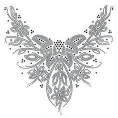 Art Deco Design Motifs | Rhinestone-Hot-fix-Motif-crystal-Fashion-Design-Dress-neckline-Art ...
